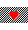 modern fashionable background with a red heart vector image vector image