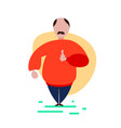mustache man thumb up gesture standing pose on vector image vector image