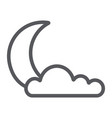 night line icon weather and climate moon and vector image vector image