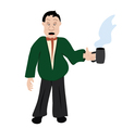 office worker with cup of coffee vector image