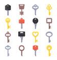 pictures keys for doors vector image vector image