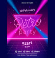 retro party hand lettering design template vector image vector image