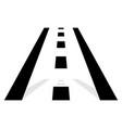 road symbol road icon straight road in vector image