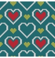 Seamless knitted sweater pattern with hearts vector image vector image