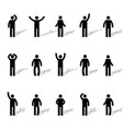 set of stick figures vector image