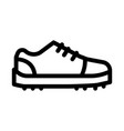 sneaker shoe icon outline vector image vector image