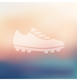 sneakers icon on blurred background vector image