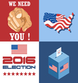 Usa 2016 election card with country map vote box a vector image vector image