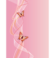 vertical background with butterfly vector image vector image