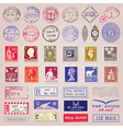 Vintage postage stamps marks and stickers vector | Price: 1 Credit (USD $1)