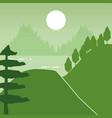 wanderlust landscape design vector image vector image
