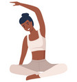woman doing yoga exercise young and beautiful fit vector image