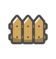 wooden fence section icon cartoon vector image