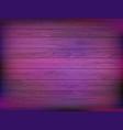 wooden plate in neon light vector image vector image