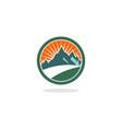circle hill logo vector image