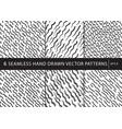 set of 6 primitive geometric patterns stylish vector image