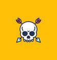 skull with arrows icon vector image