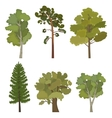 set of flat trees for infographics vector image