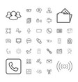 37 communication icons vector image vector image