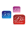 3d glossy sale icon vector image