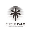 abstract circle palm logo vector image