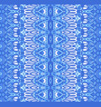 abstract ethnic geometric blue striped vector image vector image