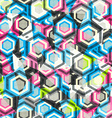 abstract rhombus color seamless with glass effect vector image vector image