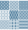 abstract seamless patterns vector image vector image