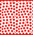 abstract seamless spatter red pattern vector image vector image