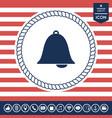 alarm bell symbol icon vector image