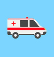 Ambulance car in flat style vector image