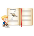 Axial tilt of saturn on page vector image vector image
