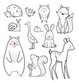 baby animal set vector image vector image