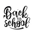 back to school lettering for banner design vector image vector image