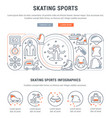 banner skating sports vector image