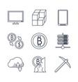 blackchain icons set vector image