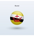 Brunei round flag vector image vector image