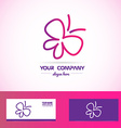 Butterfly spa beauty logo vector image vector image
