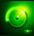 car fuel power speedometer pushing to limit vector image vector image