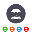 car insurance sign icon protection symbol vector image