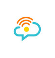 chat communication cloud technology company logo vector image