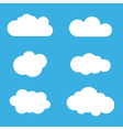 Cloud icons set White outline isolated vector image vector image
