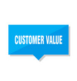 customer value price tag vector image vector image