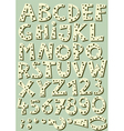 dotted beige font vector image vector image