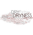 dryness word cloud concept vector image vector image