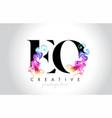 eo vibrant creative leter logo design vector image vector image