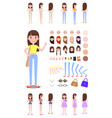 female character constructor with spare parts set vector image vector image