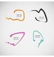 Flat line dialog design color elements vector image vector image
