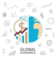 Global Economics Concept vector image