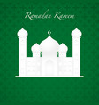 graphic of a mosque vector image vector image